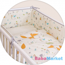 Ceba ágynemű huzat rácsvédővel 100x135 60x40cm Fox ecru Lux babaágynemű, babapléd