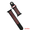 CELLECT Apple watch szilikon óraszíj, 42 mm, Fekete/Piros