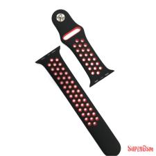 CELLECT Apple watch szilikon óraszíj, 42 mm, Fekete/Piros óraszíj