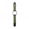 CELLECT Fitbit Blaze szilikon óraszíj (fekete-zöld)
