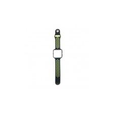 CELLECT Fitbit Blaze szilikon óraszíj (fekete-zöld) óraszíj