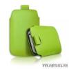 CELLECT Galaxy S4 méretű slim bőr tok,Zöld