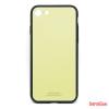 CELLECT Üveghátlapos szilikon tok, iPhone X, Krém