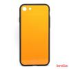 CELLECT Üveghátlapos szilikon tok, iPhone X, Narancs