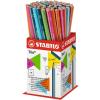 Ceruza, HB, háromszögletű, vékony, STABILO Trio, PINK test (369/01-HB)