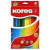 ceruza készlet, hatszögletű, KORES Hexagonal, 36 különböző szín, 36 db/készlet (IK100136)
