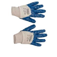 Cerva HARRIER kék mártott nitril kesztyű - 10