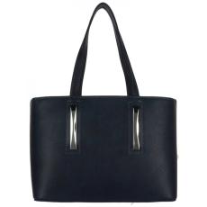 Chiara Kisebb méretű 3 részes, sötétkék női rostbőr táska Chiara