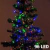 Christmas Planet Színes Karácsonyi Fényfüzér 96 LED