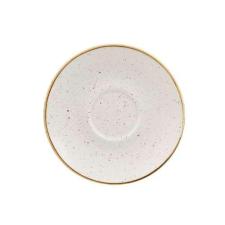 Churchill STONECAST BARLEY WHITE kerámia csészealj ( Cappuccino ) 15,6cm 1db, SWHSCSS 1 ajándéktárgy