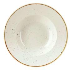 Churchill STONECAST BARLEY WHITE kerámia széles peremes, mély tányér 28cm 1db, SWHSVWBL1 tányér és evőeszköz