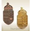 Címer bronz jelvény