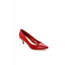 Cipő Montonelli Prémium Valódi Bőr női piros magassarkú cipő 37 /kac női cipő