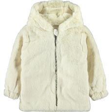 Civil Ekrü szőrös kabát