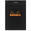 Clairefontaine Rhodia fekete jegyzetblokk Mérete: 10 5x14 8cm kockás