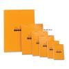 Clairefontaine Rhodia narancs jegyzetblokk Mérete: 10 5x14 8cm  vonalas
