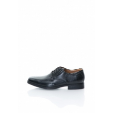 Clarks , Tilden-Walk Bőrcipő, Fekete, 10.5 (TILDEN-WALK-BLACK-LEATHER-10.5)