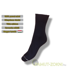 Classic pamut zokni - fekete 39-40