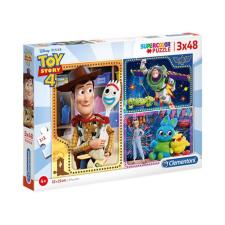 Clementoni 3X48 DB-OS SUPERCOLOR PUZZLE - Toy Story 4 Clementoni puzzle, kirakós