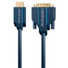 ClickTronic HDMI DVI-D Átalakító Kék 3m 70342