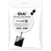 CLUB3D USB 3.1 Type C HDMI 2.0 Átalakító Fekete 10cm CAC-2504