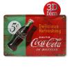 Coca-Cola fém reklámtábla