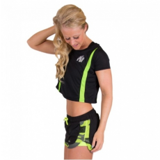 COLUMBIA CROP TOP (BLACK/NEON LIME) [L]