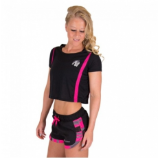 COLUMBIA CROP TOP (BLACK/PINK) [XS]