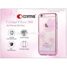 Comma Apple iPhone 6/6S hátlap Swarovski kristály díszitéssel - Comma Crystal Flora 360 - rose pink tok és táska