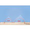Conen Szögmérős háromszögvonalzó (60 cm-es)