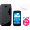 Connect IT CONNECT S Cover Samsung Galaxy S4 Mini (i9195), fekete