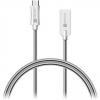 Connect IT Wirez Steel Knight Micro USB 1m, metallic silver