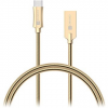 Connect IT Wirez Steel Knight USB-C 1m, metallic gold