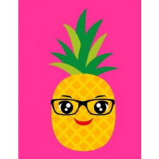 Cornell Notes Notebook: Pineapple W/Glasses/Pink Large 8.5x11 140 Page Cornell Note Taking System for Students College-Ruled Softbound Glossy – Simply Brighter Designs idegen nyelvű könyv
