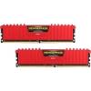 Corsair 16GB 3000MHz DDR4 RAM Corsair Vengeance LPX Red CL15 (2x8GB) (CMK16GX4M2B3000C15R)