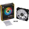 Corsair LL140 RGB LED 1300RPM 140mm hűtőventilátor szett (2db)