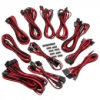 Corsair Premium Sleeved SF kábel szett - fekete/piros /CP-8920155/
