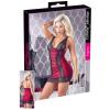 Cottelli - exkluzív fűzős-csipkés ruha (piros-fekete) (XL)