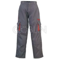 Coverguard MAGMA szürke munkaruházat piros díszítéssel, deréknadrág, biztonsági varrás, dupla...