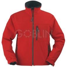 Coverguard YANG piros, cipzáros kabát, három rétegû, lélegzõ és vízhatlan softshell, 310 g/m2