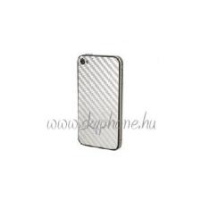 CrocfolArt Carbon matrica Apple iPhone 4,4S-hez ezüst* mobiltelefon előlap