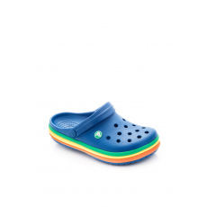 CROCS 205212-4GX CB Rainbow Band Clog BLUE JEANS