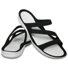 CROCS Swiftwater Sandal Women Black/White 34-35