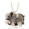 Csillogó elefántos medál hosszú nyaklánccal