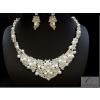 Csillogó esküvői nyakék szett swarovski kövekkel és gyöngyökkel díszítve