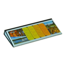 Csízió Asztali naptár képes Csízió fekvő fehér lapos idézetes PVC hátlap fekete 2019. naptár, kalendárium