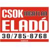 CSOK ingatlan eladó színes felirat, matrica, tábla, ponyva 100×72 cm (piros-fehér-fekete)