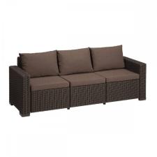CURVER Allibert California 3 üléses műrattan kerti kanapé barna kerti bútor