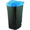 CURVER Görgős szemetes, műanyag, 110l, CURVER, kék/fekete