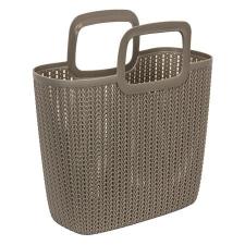 """CURVER Kötött hatású bevásárló táska, CURVER """"Knit"""", barna kézitáska és bőrönd"""
